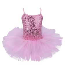 Girls Gymnastic Ballet Leotard Tutu Dress Ballerina Dance Skirt Outfit Costume
