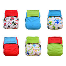 6-pack Bundle Charcoal Bamboo All-in-one AIO Cloth Diapers (Unisex Prints)