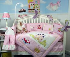 SoHo Royal Princess Baby Crib Nursery Bedding 13 pcs Set included Diaper Bag