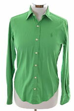 Ralph Lauren Womens Shirt Size 4 XS Green Cotton Loose Fit