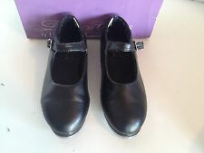 Dance Class Size 12 Black Girls' Vinyl Mary Jane Tap Shoes