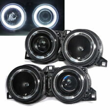 E30 1983-1991 CCFL Angel-Eye Projector Phare Black for BMW 316i/320i/325/M3