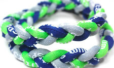 "NEW 20"" Twist Titanium Sport Necklace Lime Green Gray Navy Blue Tornado Baseball"