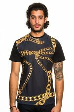 ANDRIOD HOMME Black GOLD CHAINS T-Shirt Size Medium 100% Authentic NEW