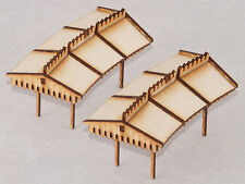 PC002 Curved Platform Canopy Inner 1st Radius Twin pack OO Gauge Laser Cut Kit