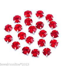 50 Rot Strasssteine Preciosa Glaskristall Strass für Schmuck DIY 5x5mm
