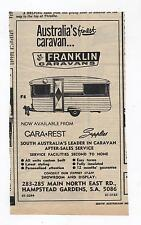 Franklin Caravan Original Advertisement removed from 1969 Magazine