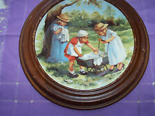 "KNOWLES -PLATE- FRIENDS I REMEMBER COLLECTION ""OFFICE HOURS""-W/FR AME 1985"