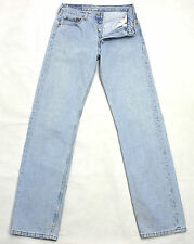 VINTAGE LEVI'S 501 LIGHT PALE DENIM HIGH WAISTED BOYFRIEND JEANS W29 L34 LVJ642