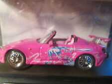 GREEN LIGHT HOLLYWOOD FAST&FURIOUS Pink 2001 HONDA S2000 Scale 1/43 - New!