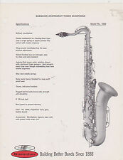 AD SHEET #2512 - 1970s BUESCHER MUSICAL INSTRUMENT - ARISTOCRAT TENOR SAX #1030