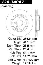 Disc Brake Rotor-High Performance Drilled and Slotted fits 02-06 Mini Cooper