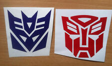 Two Transformer stickers for car. One Decepticon and one Autobot decal.