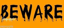 Halloween Stencil for Crafts and Signs BEWARE