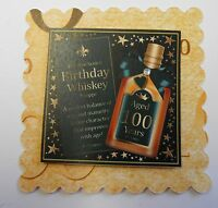 PK 3 100TH HAPPY BIRTHDAY WHISKY EMBELLISHMENT FOR CARDS OR CRAFTS