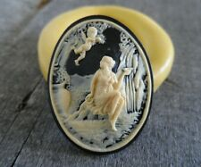 Lady and cherub cameo silicone push mold mould polymer clay resin Wax food safe