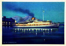 """Cartolina Marina - Motonave """"Abbazia"""" Società Partenopea Di Navigazione - Non Vi"""