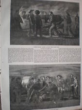 Gunnery practice on HMS St Jean D'Acre 1854 old prints