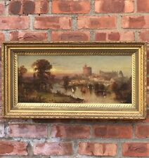 19th Century Landscape Painting. Possible Early View Of The Vatican Italy. C1850