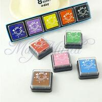 New 5 Color DIY Washable Kids Foam Ink Stamp Pad Set Inkpad Child-safe O