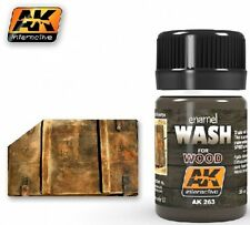 Ak Interactive AKI 263 Wash for Wood Enamel Paint 35ml Bottle
