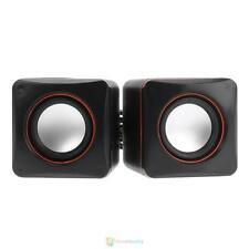 USB 2.0 Portable Mini Audio Speaker Music Player Subwoofer for Laptop Desktop
