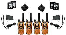 4X Motorola MT351R Walkie Talkie FRS GMRS 2-Way Radios Ni-MH Weather VibraCall