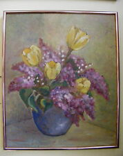 Old 1940's Canadian Oil Painting M.MacGregor (Werder) Still Life