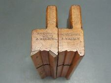 """Pair wooden moulding planes sash ovolo 5/8"""" vintage old tools Brain Late Shepley"""