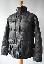 Mens Black, Boden London, Wax look Jacket Size M, Medium.