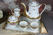 Exclusive French Tete a tete coffee tea service cups sugar bowl set marked 1920