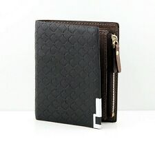 Men's Bifold Wallet Leather ID Credit Card Holder Zip Coin Pocket Purse Billfold
