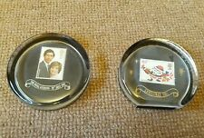 2 X 1981 STAMP PAPERWEIGHT WEDDING OF PRINCE CHARLES & DIANA SPENCER Christmas