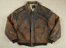 VTG '89 AVIREX USAAF 'MOTHER' TYPE A-2 LEATHER FLIGHT BOMBER JACKET M/L