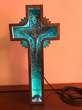 VINTAGE 30's NEON JESUS CRUCIFIX FUNERAL CROSS RARE SIGN CHURCH