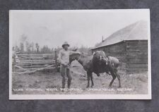VINTAGE RPPC REAL PHOTO POSTCARD BEAR HUNTING SPRINGERVILLE ARIZONA COWBOY