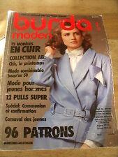 MAGAZINE BURDA MODEN CARNAVAL/CHIC LE PRINTEMPS/COMMUNION   01/1986