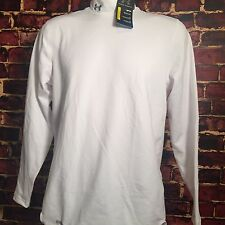 Under Armour Mens White Medium Coldgear FITTED Mock SHIRT 1215483 NWT