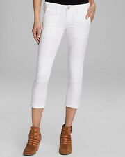 NEW TRUE RELIGION JEANS $198 JOYCE MILITARY SKINNY PANT IN OPTIC WHITE 27
