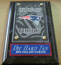 DIE HARD FAN NEW ENGLAND PATRIOTS CARD WALL PLAQUE FOR YOUR MAN CAVE
