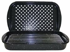 NEW Granite Ware 3-Piece Bake Broil & Grill Pan Set Bake Cook Food Kitchen Oven