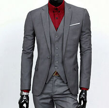 Mens Wedding Suits Groom Tuxedos Formal Business Suits Best Man Suit Custom Made
