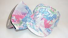 NWT NEW ERA HAT CAP FITTED MIAMI MARLINS MLB SIZE 7 1/2 DOT BLUE PINK WHITE