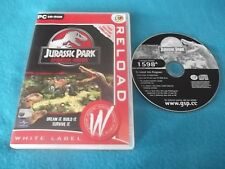 JURASSIC PARK OPERATION GENESIS PC CD-ROM V.G.C. FAST POST ( simulation game )