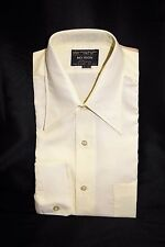 NOS Vintage 70's Men's JC Penney Yellow Button Down Dress Shirt Size Large 16/33