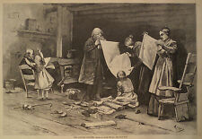 THE COUNTRY PEDDLER IN VICTORIAN TIMES HARPER'S WEEKLY 1877