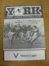 22/02/1981 Rugby League Programme: York v Whitehaven. This item is in very good