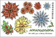 CREATIVE EXPRESSIONS U MOUNT Stamps CHRISTMAS TOPPERS Poinsettia Snowflake Holly