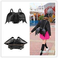 Gothique Noir Chauve-souris Coeur Sac à dos ailes gothique punk lacets lolita