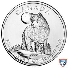 2011 1 oz Canadian Silver Timber Wolf Wildlife Series Coin (BU) Heavy Spotting